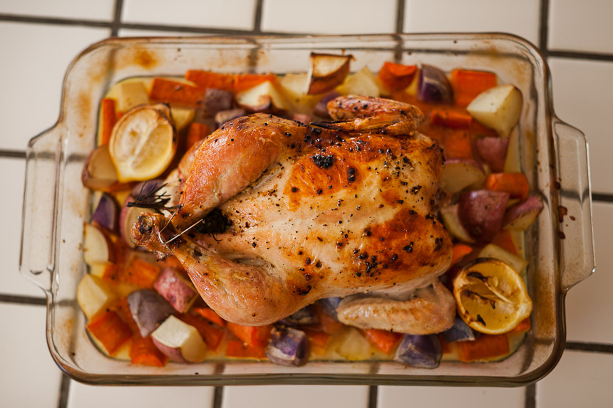 Roasted Rosemary and Lemon Chicken with Root Vegetables | Sustained by ...